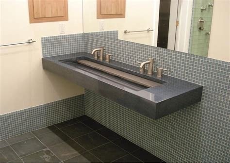 bathroom breathtaking faucet and trough sinks for