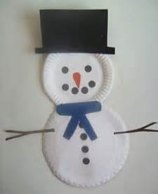 How To Make A Paper Plate Snowman - paper plate snowman