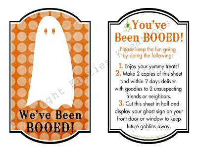 printable you ve been booed sign kinzie s kreations september 2010
