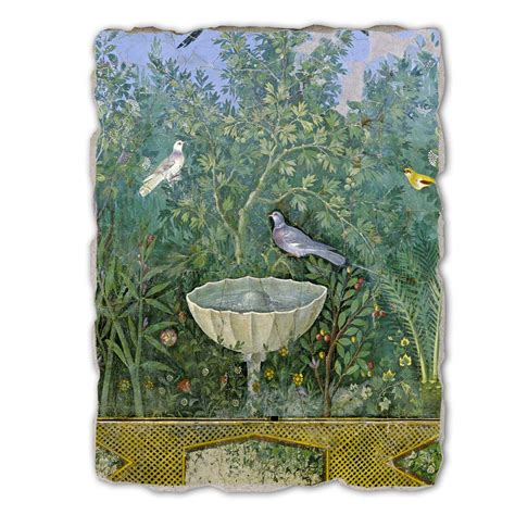 arte giardino affresco grande arte romana giardino con erme e fontana