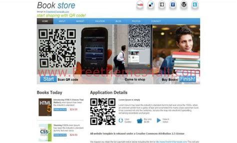 free css templates for books html5 books shop template download