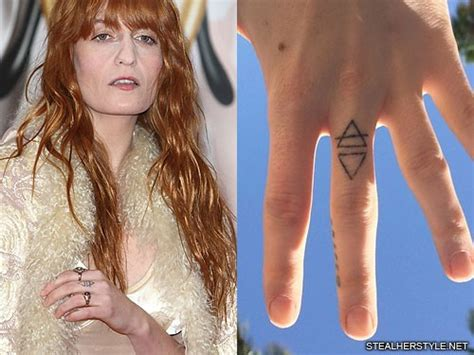 florence welch tattoos florence welch logo triangle knuckle style