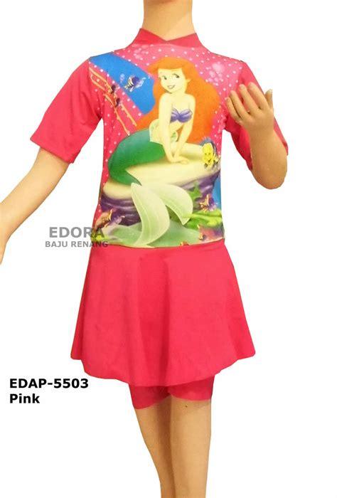 Baju Renang Rok baju renang diving rok karakter edap 5503 pink