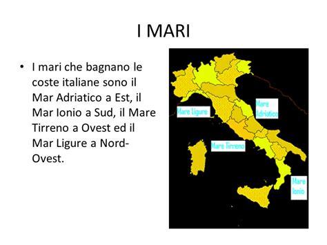 mari bagnano l italia la geogragia d italia italian iva ppt