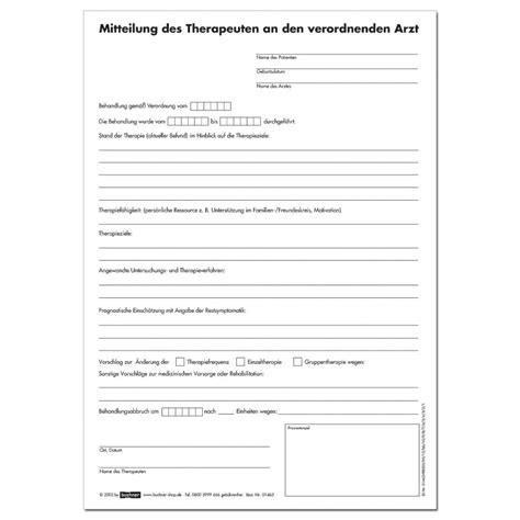 Schreiben Mieterhöhung Muster Kostenlos Therapiebericht F 252 R Logop 228 Den Praxisbedarf Shop Buchner