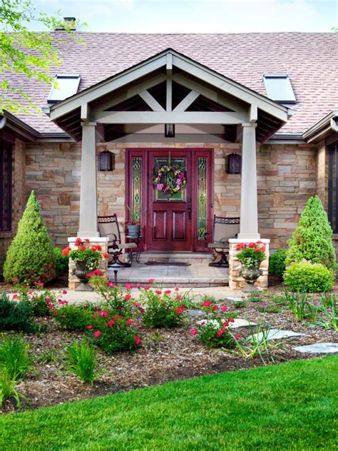 front porch portico home design ideas pictures remodel