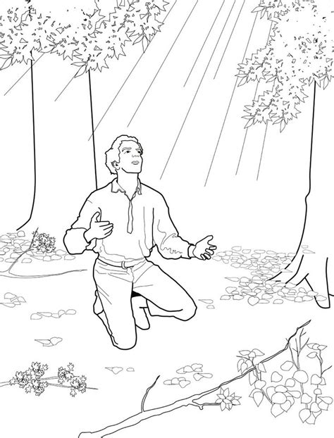 lds coloring pages joseph smith joseph smith and the first vision primary coloring page