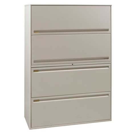 Haworth Lateral File Cabinet Haworth Used 42 Inch 4 Drawer Lateral File Putty National Office Interiors And Liquidators