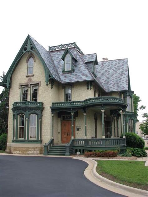 gothic victorian house in forest beautiful victorian tan and forest green victorian house paint pinterest
