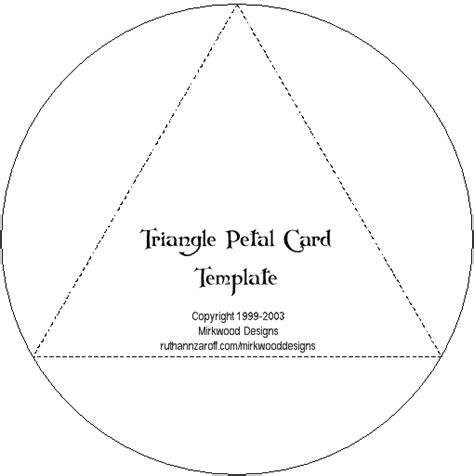petal card template printable templates triangle petal card from