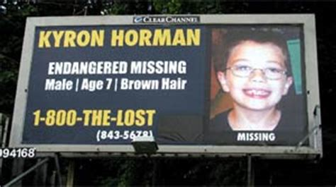 kyron horman plea missing endangered billboard caign
