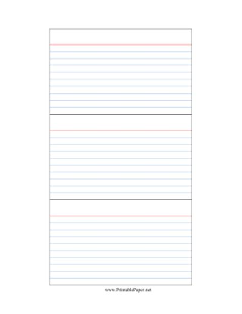 Index Card Template Print by Printable Index Cards Template