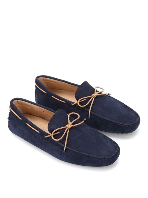 tods loafer front tie suede gommino loafers by tod s loafers