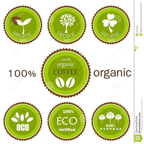 design organic label eco organic vector labels stock vector illustration of