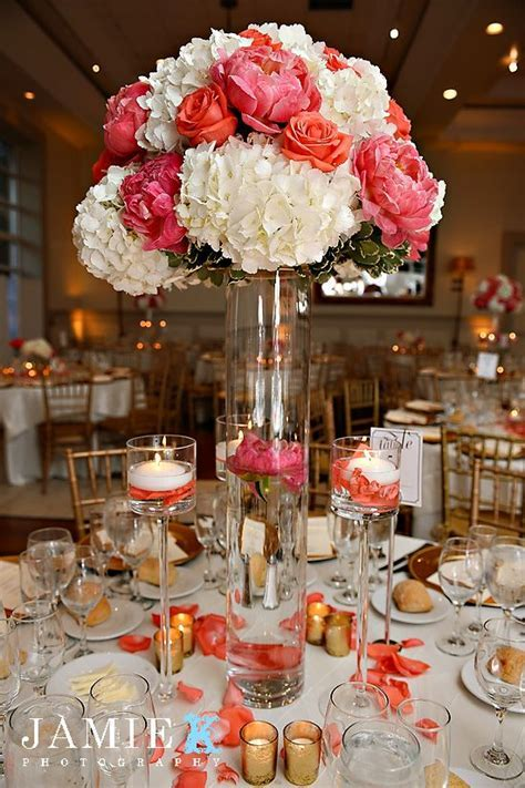 peach reception wedding flowers, wedding decor, wedding