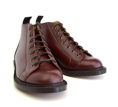 two boots oxblood monkey boots version 2 leather sole mod shoes