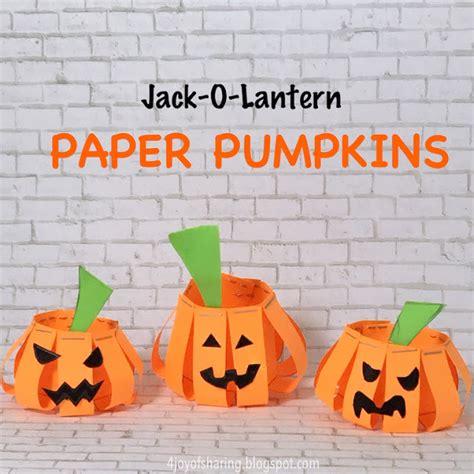 O Lantern Paper Craft - the of o lantern paper pumpkins