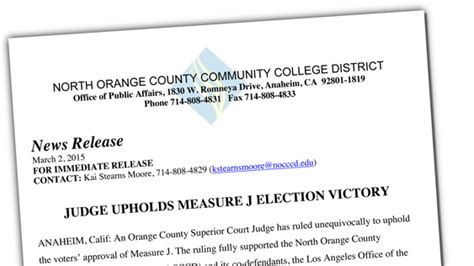Oc Superior Court Search Measure J S Voter Approval Upheld By Oc Superior Court Judge Cypress