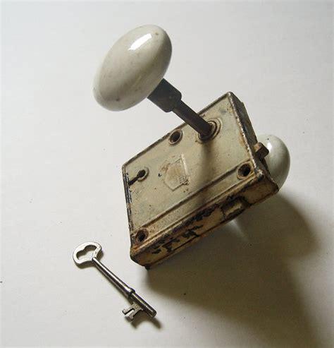 Corbin Door Knobs vintage corbin door lock and key with porcelain knobs