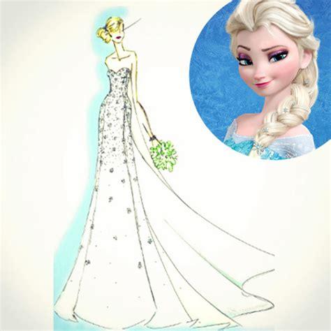 Sketsa Baju Elsa bagaimana jadinya jika elsa frozen menikah di dunia nyata merdeka