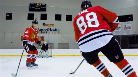 toews and kane fight on bench gopro on the ice with patrick kane jonathan toews