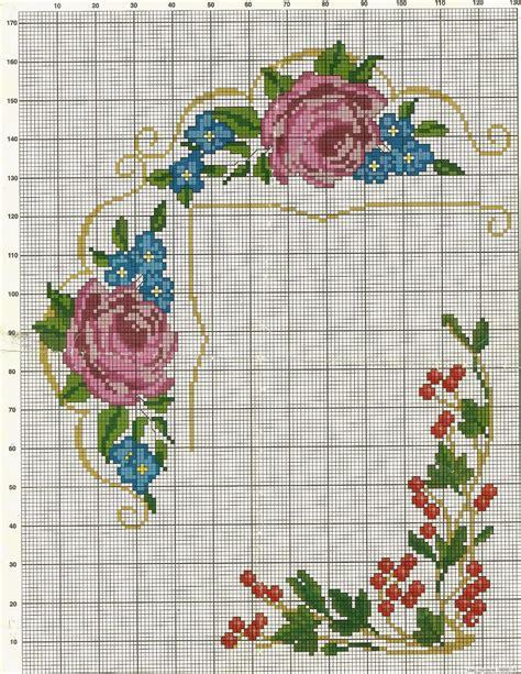 patrones para bordado en punto cruz de rosita fresita en costuras stephany patrones de flores de punto de cruz