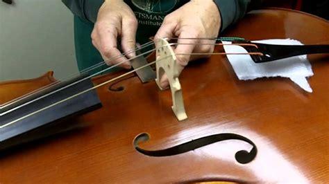 Contrabass Doublebass Bridge how to set up a bridge on a cello