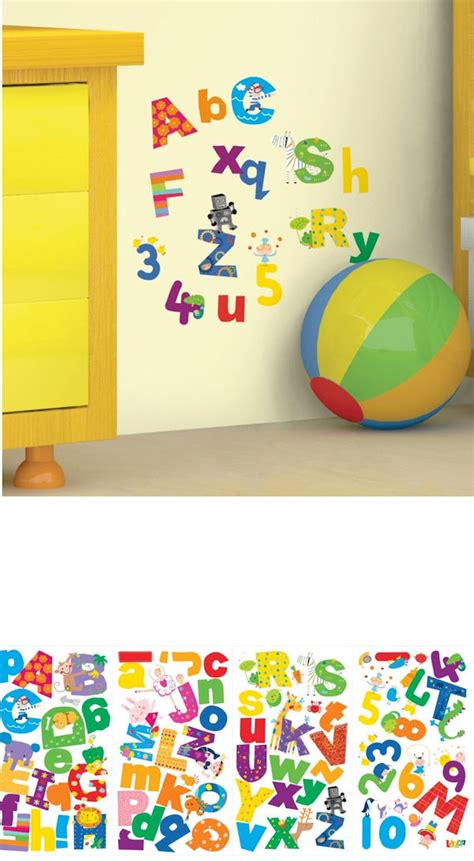 alphabet and number wall stickers lazoo alphabet and numbers wall decals
