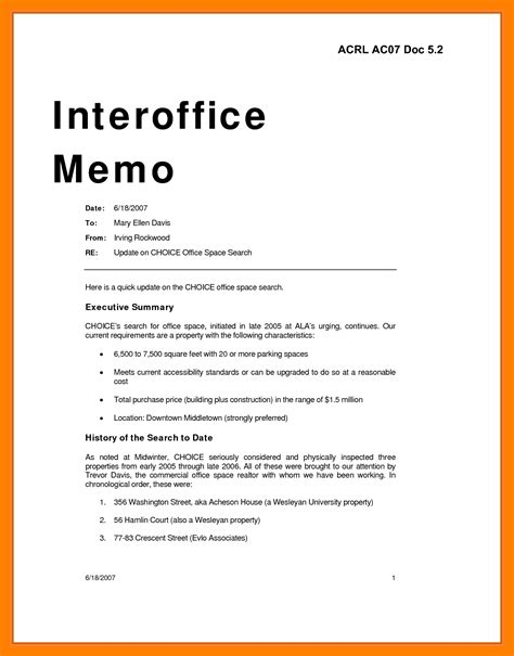 official memo template 7 sle office memo exles science resume