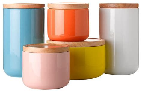 Contemporary Kitchen Canisters | general eclectic canisters contemporary kitchen