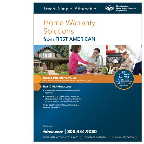first american home warranty premier plan home warranty plans for california