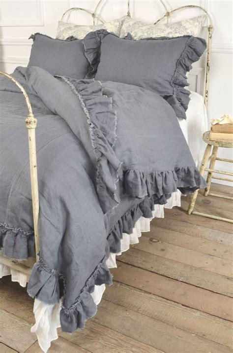 grey ruffle comforter set best 25 gray bedding ideas on pinterest