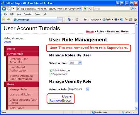 tutorial asp net security assigning roles to users vb the asp net site