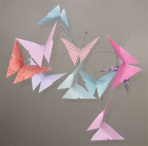 Origami Butterfly Mobile - patterned whimsy origami butterfly mobile aftcra