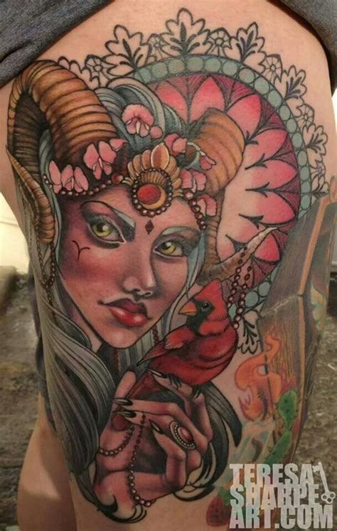 beautiful aries tattoo aries astrology pinterest