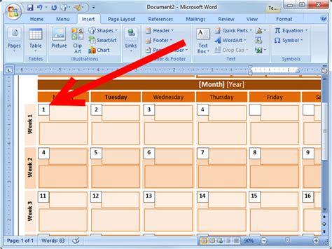 calendar design ms word how to create an event calendar in microsoft word 2008 7