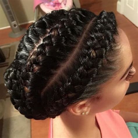 one goddess braid cebter of head side to center braided updo hairstyles pinterest