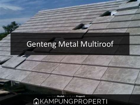 Genteng Metal Multiroof jual distribbutor supplier pabrik genteng metal