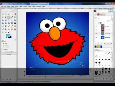 gimp tutorial path tool gimp tutorial drawing with paths tool youtube