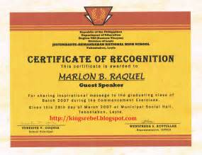 Certification Letter Philippines Editable 7 best images of school recognition certificates free