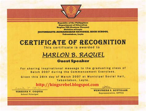 Tidbits And Bytes Exle Of Certificate Of Appreciation Guest Speaker 2007 Commencement Certificate Of Appreciation For Speakers Template