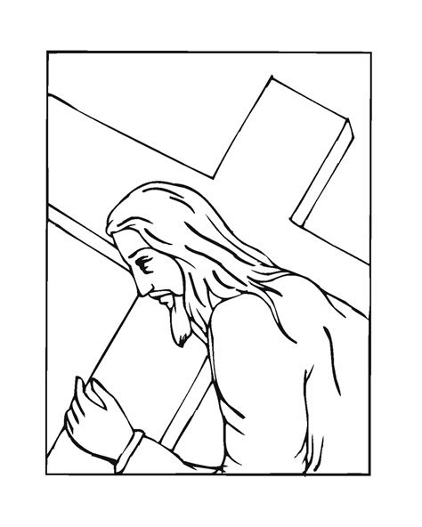 coloring page jesus cross cross coloring pages