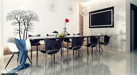 Black And White Dining Rooms by 7 Black White Dining Room Tree Wall Decal Interior