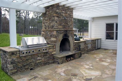 outdoor kitchen and fireplace designs outdoor kitchens pizza ovens north greece landscape in