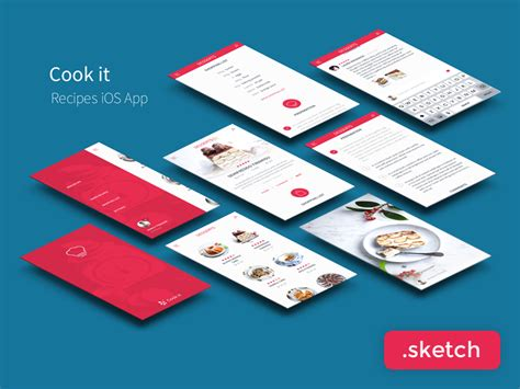sketch app recipes app ui kit sketch free psds sketch app