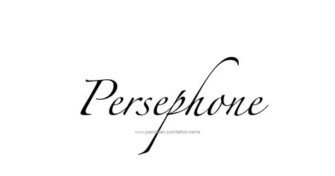 persephone tattoo persephone mythology name designs page 3 of 5