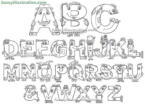Monster Designs Coloring Pages Alphabet Easy Abc Coloring Pages