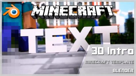 minecraft intro template blender free minecraft intro templates 23 blender