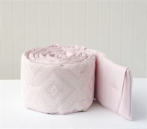 Embroidered Crib Bedding Embroidered Baby Bedding Set Pink Pottery Barn