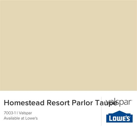 homestead resort taupe from valspar paint chips